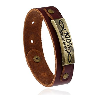 للرجال للمرأة أساور من الجلد موضة جلد Geometric Shape مجوهرات زفاف حزب الرياضة مجوهرات