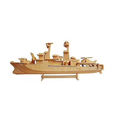 3D-puzzels Legpuzzel Houten modellen Modelbouwsets Oorlogsschip Vliegdekschip 3D Puinen Hout Vliegdekschip Kinderen Jongens Unisex