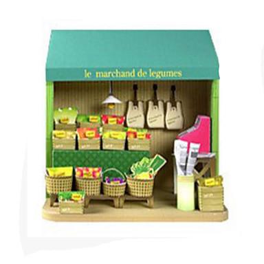 3D-puzzels Bouwplaat Modelbouwsets Papierkunst Speeltjes Vierkant 3D Fruit DHZ Hard Kaart Paper Unisex Stuks