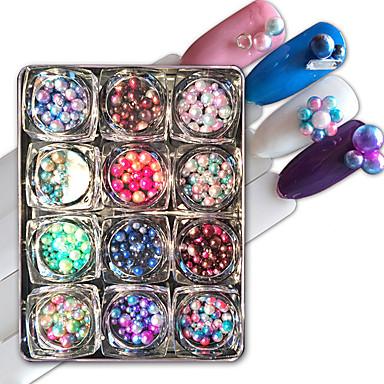 12 Nagelkunst decoratie Strass parels make-up Cosmetische Nagelkunst ontwerp