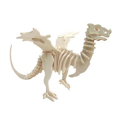 Puzzle 3D Puzzle Modelul lemnului Μοντέλα και κιτ δόμησης Jucarii Dinosaur Animal 3D Simulare Reparații Lemn Lemn natural Ne Specificat