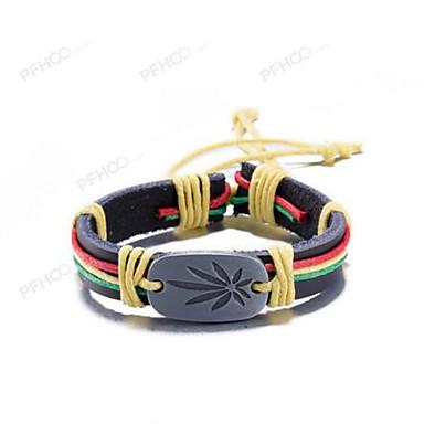 Heren Dames Armbanden met ketting en sluiting Sieraden Vintage Leder Cirkelvorm Sieraden Dagelijks gebruik