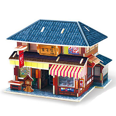 Puzzle 3D Puzzle Modelul lemnului Μοντέλα και κιτ δόμησης Jucarii Arhitectură 3D Reparații Lemn Ne Specificat Bucăți