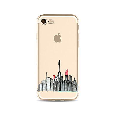 Hülle Für Apple iPhone X iPhone 8 Plus Transparent Muster Rückseitenabdeckung Sexy Lady Weich TPU für iPhone X iPhone 8 Plus iPhone 8