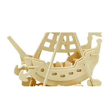 3D-puzzels Legpuzzel Houten modellen Dinosaurus Vliegtuig Schip 3D DHZ Puinen Hout Klassiek Piraat Unisex Geschenk