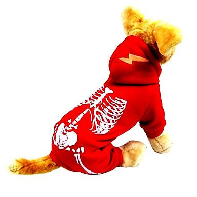Hund Kostüme Hundekleidung Cosplay Halloween Totenkopf Motiv Schwarz Rot Kostüm Für Haustiere
