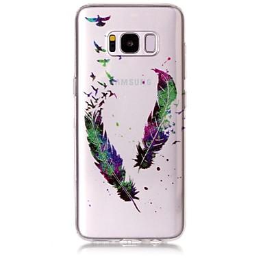 hoesje Voor Samsung Galaxy S8 Plus S8 IMD Patroon Achterkantje Veren Glitterglans Zacht TPU voor S8 S8 Plus S7 edge S7 S6 edge S6