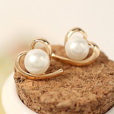 Dames Oorknopjes Imitatie Parel Modieus Kostuum juwelen Legering Hartvorm Sieraden Voor Causaal
