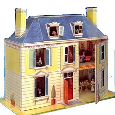 Puzzle 3D Lucru Manual Din Hârtie Jucarii Pătrat Clădire celebru Casă Arhitectură 3D Reparații Hârtie Rigidă pentru Felicitări Unisex