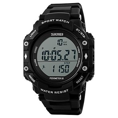 SKMEI للرجال ساعة رياضية ساعة رقمية رقمي رزنامه مقاوم للماء عداد الخطى PU فرقة كوول أسود
