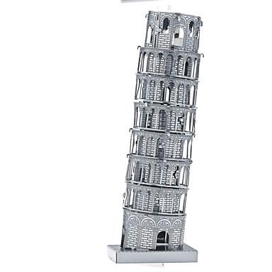 قطع تركيب3D تركيب تركيب معدني مجموعات البناء ألعاب مستطيل برج بناء مشهور معمارية 3D برج ايفيل الحديد ألمنيوم معدن غير محدد قطع
