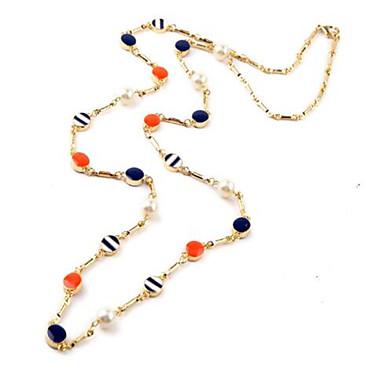Damen Anhängerketten Imitierte Perlen Kreisform Aleación Personalisiert Einzigartiges Design Künstliche Perle Modisch Schmuck Für