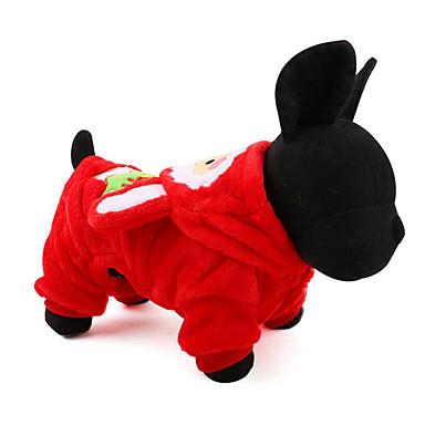 Hund Kapuzenshirts Overall Hundekleidung Weihnachten Lässig/Alltäglich Weihnachten Braun Rot Kostüm Für Haustiere