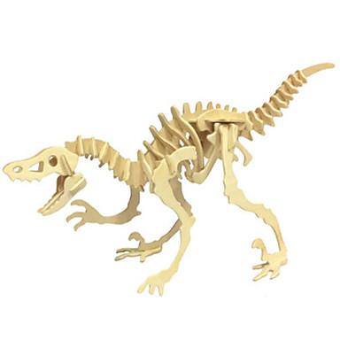 قطع تركيب3D تركيب الخشب نموذج ألعاب ديناصور حيوان 3D محاكاة خشب الخشب الطبيعي غير محدد قطع