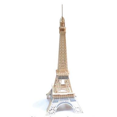 قطع تركيب3D تركيب النماذج الخشبية مجموعات البناء برج معمارية برج ايفيل Other 3D اصنع بنفسك خشب الخشب الطبيعي الحديد كلاسيكي للأطفال