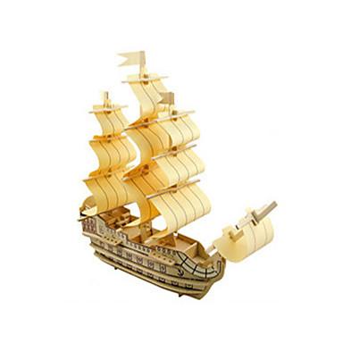 قطع تركيب3D تركيب الخشب نموذج مجموعات البناء ألعاب سفينة 3D اصنع بنفسك خشبي خشب غير محدد قطع