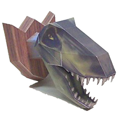 3D - Puzzle Papiermodel Modellbausätze Papiermodelle Spielzeuge Tyrannosaurus Quadratisch Dinosaurier 3D Heimwerken Simulation Unisex