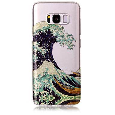 Недорогие Чехлы и кейсы для Galaxy S6 Edge-Кейс для Назначение SSamsung Galaxy S8 Plus / S8 / S7 edge IMD / С узором Кейс на заднюю панель Пейзаж / Сияние и блеск Мягкий ТПУ
