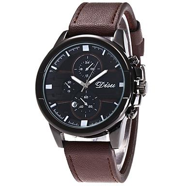 Herrn Quartz Armbanduhr Militäruhr Sportuhr Kalender Leder Band Luxus Kreativ Freizeit Einzigartige kreative Uhr Elegant Modisch Blau