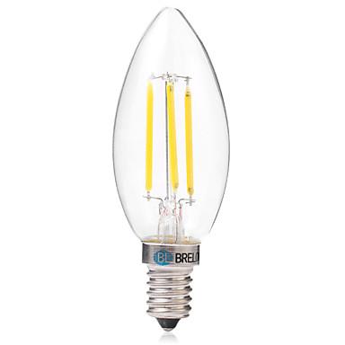 BRELONG® 1pc 4W 350 lm E14 LED-gloeilampen C35 4 leds COB Warm wit Wit AC 220-240V