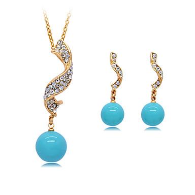 Pentru femei Coliere cu Pandativ Cristal Imitație de Perle Design Circular Γεωμετρικά Stil Atârnat Clasic Vintage Ajustabile Nuntă