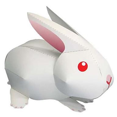 Puzzle 3D Modelul de hârtie Jucarii Pătrat Rabbit Animale Reparații Hârtie Rigidă pentru Felicitări Ne Specificat Bucăți