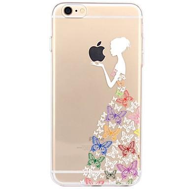 Pentru iPhone X iPhone 8 Carcase Huse Transparent Model Carcasă Spate Maska Se joaca cu logo-ul Apple Femeie Sexy Moale TPU pentru Apple
