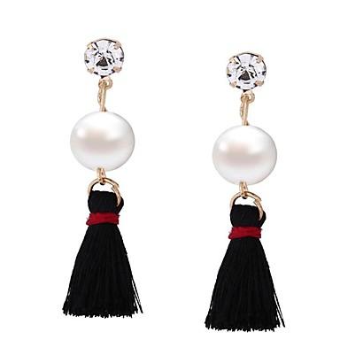 Damen Tropfen-Ohrringe Schmuck Imitierte Perlen Euramerican überdimensional EVA-Harz Aleación Geometrische Form Schmuck Für Hochzeit