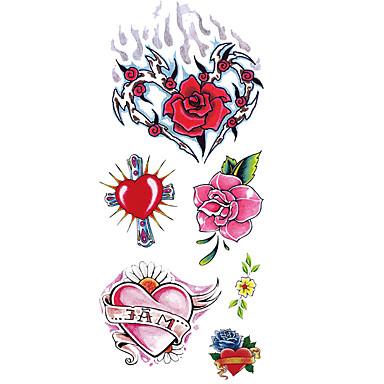 Acțibilde de Tatuaj Serie de Flori Serie de totemuri Model Spate Zona De Jos Waterproof Dame Bărbați Adolescent tatuaj flashTatuaje