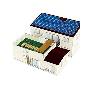 Speelgoed op zonne-energie 3D-puzzels Bouwplaat Modelbouwsets Speeltjes Beroemd gebouw Huis Architectuur Op Zonne-Energie DHZ Niet