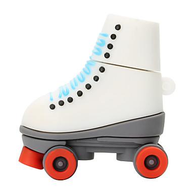 Hete nieuwe cartoon rode wielschaatsen usb2.0 256gb flash drive u schijf geheugen stick