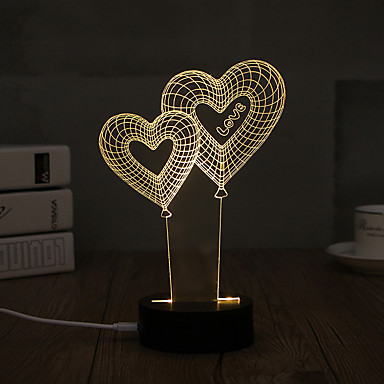 Dekorations Beleuchtung LED-Nachtlicht-0.5W-USB Dekorativ - Dekorativ