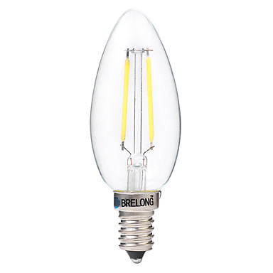 2W E14 Bec Filet LED C35 2 led-uri COB Decorativ Alb Cald Alb 200lm 2700-3200 6000-6500K AC 220-240V