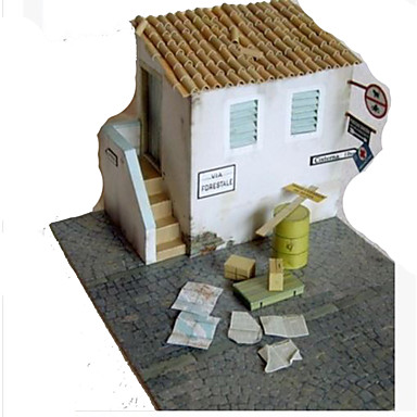 3D-puzzels Bouwplaat Modelbouwsets Papierkunst Speeltjes Vierkant Beroemd gebouw Architectuur 3D DHZ Simulatie Hard Kaart Paper Unisex