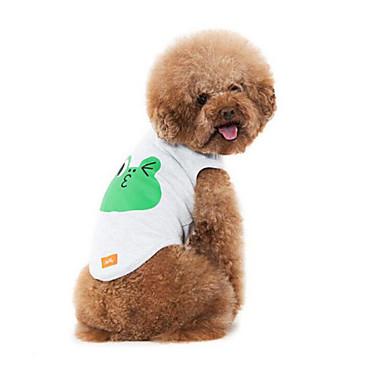 Hund Weste Hundekleidung Atmungsaktiv Lässig/Alltäglich Cartoon Design Weiß Grau Kostüm Für Haustiere