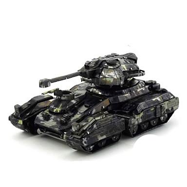 قطع تركيب3D تركيب تركيب معدني مجموعات البناء دبابة اصنع بنفسك كروم معدن كلاسيكي استايل صيني للجنسين هدية