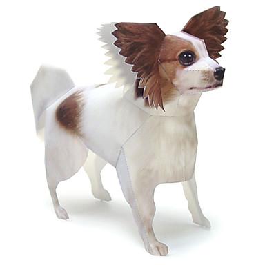 3D-puzzels Bouwplaat Modelbouwsets Papierkunst Speeltjes Vierkant Honden 3D Vlinder Dieren DHZ Hard Kaart Paper Unisex Stuks