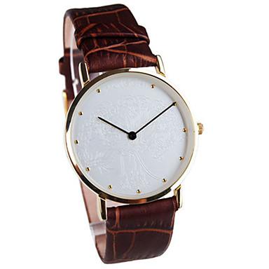 Heren Dress horloge Modieus horloge Kwarts Waterbestendig Leer Band Zwart Bruin