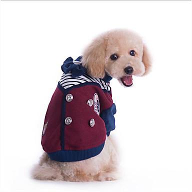 Hond Jassen Hondenkleding Casual/Dagelijks Brits Grijs Rood