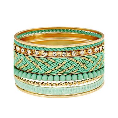 للمرأة أساور موضة سبيكة معدنية راتينج حجر الراين Circle Shape مجوهرات لباس يومي نادي كاجوال/يومي شارع مواعدة مجوهرات