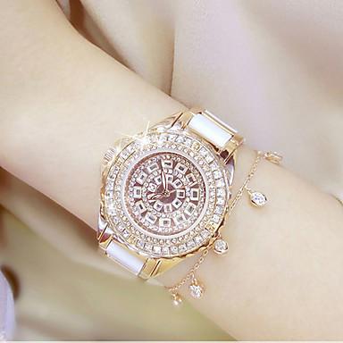 Damen Pavé-Uhr Einzigartige kreative Uhr Modeuhr Sportuhr Armbanduhren für den Alltag Chinesisch Quartz Wasserdicht Edelstahl Band Charme