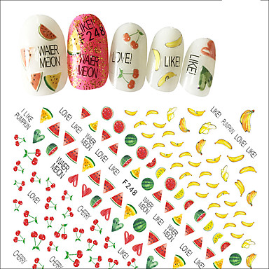1 Nail Art autocolant Fete & Tinere Femei 3-D Consumabile DIY Autocolant machiaj cosmetice Nail Art Design