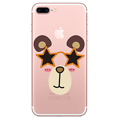غطاء من أجل Apple شفاف نموذج غطاء خلفي حيوان كارتون ناعم TPU إلى فون 7 زائد فون 7 iPhone 6s Plus iPhone 6 Plus iPhone 6s أيفون 6