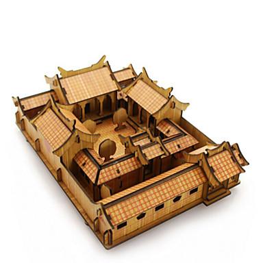 3D-puzzels Legpuzzel Beroemd gebouw Huis Architectuur 3D Hout Natuurlijk Hout Jongens Unisex Geschenk