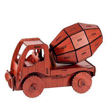 لعبة سيارات قطع تركيب3D تركيب النماذج الخشبية سيارة 3D اصنع بنفسك خشب الخشب الطبيعي سيارة الحفريات للجنسين هدية