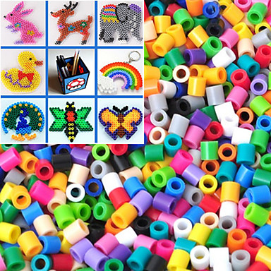 Approx 500PCS/Bag 5MM Mixed Color Fuse Beads Hama Beads DIY Jigsaw EVA Material Safty for Kids