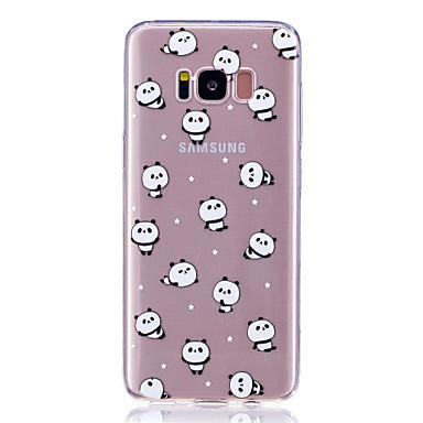 hoesje Voor Samsung Galaxy S8 Plus S8 Transparant Patroon Achterkantje Panda Zacht TPU voor S8 S8 Plus S7 edge S7