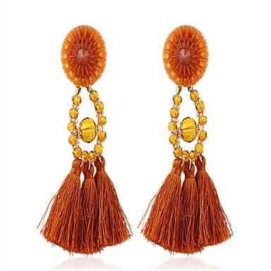 للمرأة أقراط قطرة عتيقة المتضخم أكريليك Oval Shape مجوهرات من أجل خشبة المسرح ذهاب للخارج
