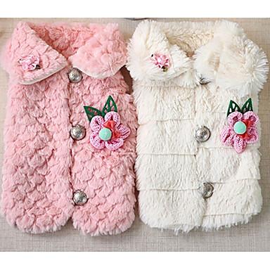 Hond Jassen Hondenkleding Casual/Dagelijks Flora/Botanisch Wit Roze Kostuum Voor huisdieren