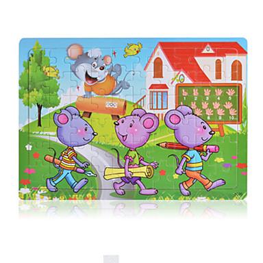 Legpuzzels Houten puzzels Bouw blokken DHZ-speelgoed Slang Overige cartoon Shaped
